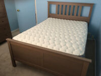 Hemnes double bed & dresser set