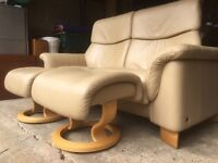 Stunning top of range Ekornes Stressless Paradise 2 seater finest Paloma leather