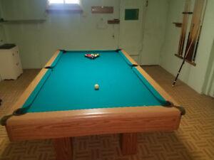Slate pool table for sale.
