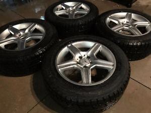 Mercedes benz mags 17 sur pneus hiver yokohama 11/32 usure