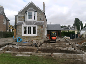 Groundworks/mini digger hire/landscaping