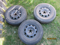 3  VW Volkswagon 15 inch rims with winter tires