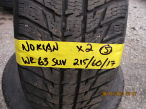 Pair of Nokian WR63 SUV 215/60/17 summer tires for sale