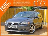 2007 Volvo V50 2.5 T5 SE Sport 6 Speed Auto Estate Sunroof Heated Seats Parking