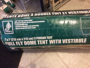 3 person done tent with fly.