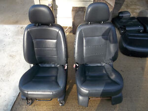 Black Leather Interior / Seats from 2002 Ford Escape