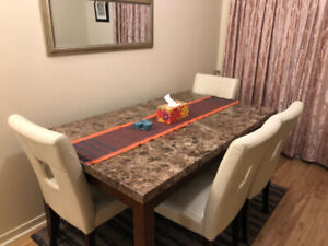1x Dining Table With 4x Chair
