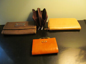 leather wallets,, jewelrey bag travel, document holder black