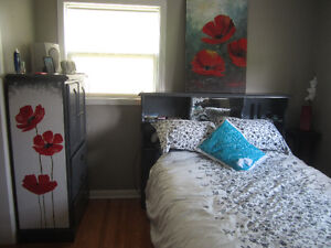 Custom Refinished Solid Wood Bedroom Suite with 2 dressers