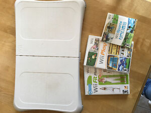 Wii board and 3 games.