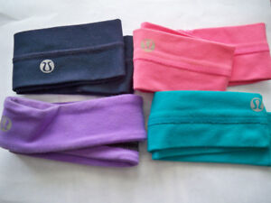4 LULU LEMON HEAD BAND'S
