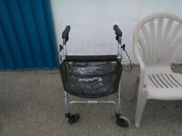 Deluxe walker with brakes and basket