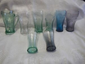 Genuine Coca-Cola Glass Cups Mugs By Libbey Set of 8
