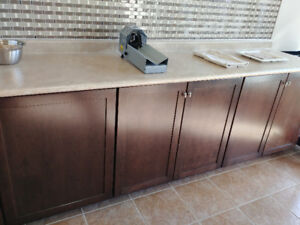 Kitchen counter + base cabinets