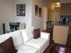 January: Furnished Downtown 1 Bed + den @ Maple Leaf Sq - Union