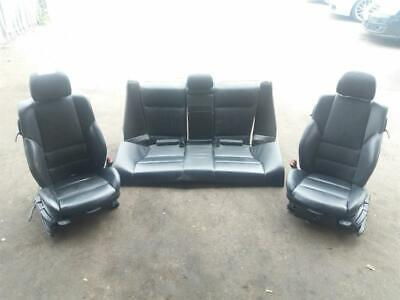 BMW 3 Series E46 Coupe Black Leather Seats interior