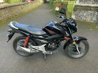 2021 (21) Honda CB125F / GLR125 - Black (Onyx Blue) - 153 miles