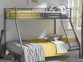 ☀️💚☀️AMAZING OFFER☀️💚☀️TRIO METAL BUNK BED FRAME DOUBLE BOTTOM & SINGLE TOP HIGH QUALITY
