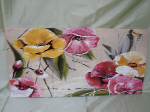 Yellow/red/pink/ CANVAS picture