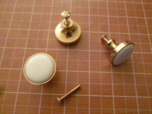 Amerock White & Gold Pull Knobs - 58 Available