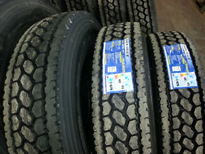 NEW TIRES 11R22.5 11R24.5 315/80R22.5 (STEER, DRIVE & TRAILER) West Island Greater Montréal image 2