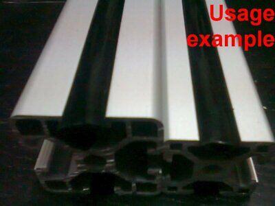 Aluminum T-slot Profile End 8mm Slot Cover Plastic Black 3030 Or 4040 L 4m