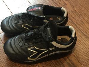 Boys soccer shoes & shin protector
