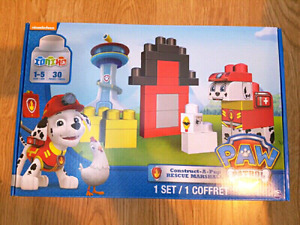 Ionix Paw Patrol Construct A Pup Rescue Marshall Mega Bloks