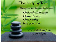 (((First Time $60/hour))) Men Massage Service by Tom Asian Male