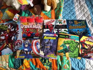 Superhero book lot