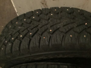 195 65 15 studded Goodyear NORDIC on 5x114.3 rims