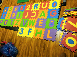 Alphabet and Numbers Foam Tile Mat