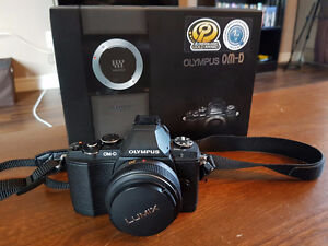 Olympus OM-D E-M5 mirrorless with Panasonic 20mm f1.7 lens