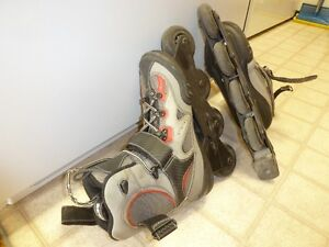 KOHO unisex roller blades with K2 Moto pad set (Never used)