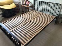 Habitat iron double bed (no mattress) £75 ono