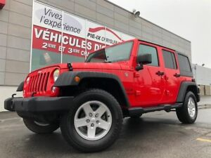 Jeep Wrangler Unlimited SPORT+A/C+GR.ELEC+2 TOIT+MAGS+WOW! 2016