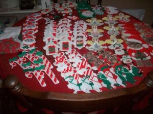 Variety of homemade Christmas ornaments
