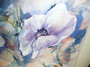 "Floral, Still Life, Original Watercolor by Gina Boyle ""Poppies"" Stratford Kitchener Area image 4"