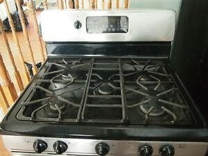 Stainless Steel 5-burner Gas Stove and Microwave