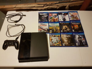 PS4 with 11 Games!