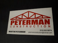 Handyman services and snow removal.