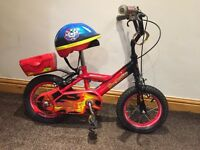 Boys bike and helmet