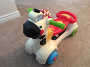 Fisher price zebra roll and go