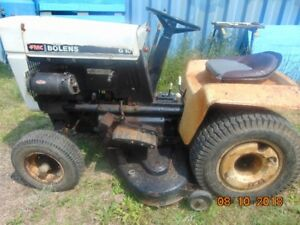 FMC BOLENS G10 RIDE TRACTOR / MOWER WITH 3 ATTACHMENTS $600.00