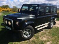 Land Rover 110 Defender 2.4TDi County Estate 1 OWNER Low Miles 80K FSH 10 Stamps