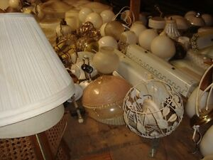 Lot of Antique light fixtures