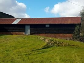 LARGE RURAL TIMBER CLAD & BRICK BARN FOR STORAGE ONLY, NEAR BASINGSTOKE / ALTON