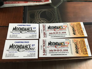 Two Moondance Jam Ticket and Camping Pass
