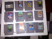 Old Nintendo NES Grey Cartridge Games For Sale