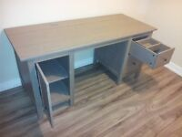 """Stained Grey Colour Ikea Hemnes Desk (61""""x26"""")"""